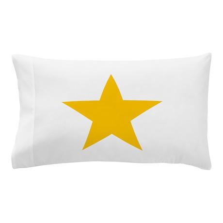 yellow star 1 Pillow Case