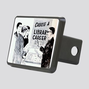 Retro Librarian Rectangular Hitch Cover