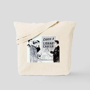 Retro Librarian Tote Bag