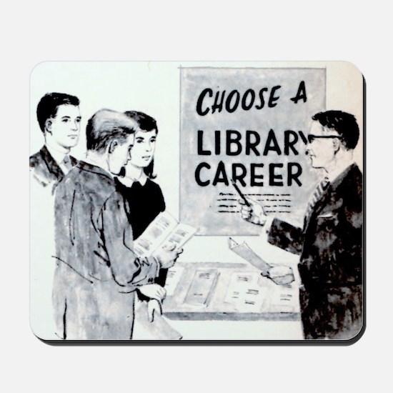 Retro Librarian Mousepad