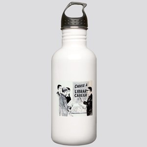 Retro Librarian Stainless Water Bottle 1.0L