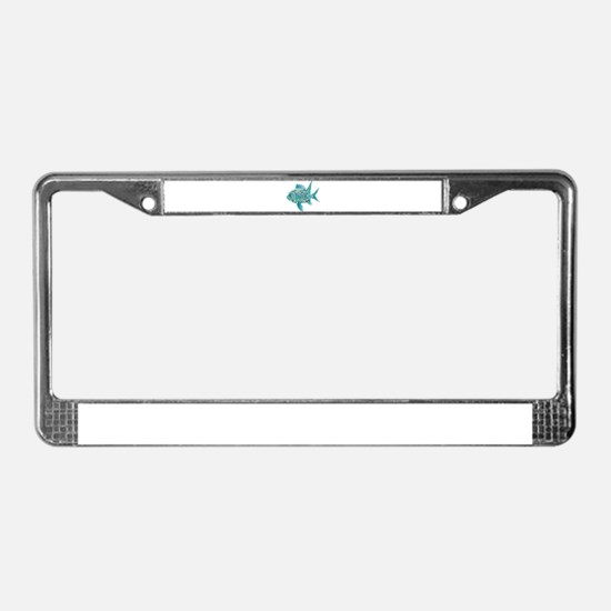 Robot Fish License Plate Frame