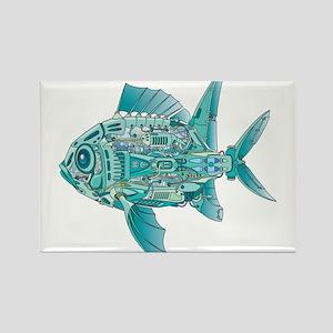 Robot Fish Rectangle Magnet