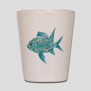 Robot Fish Shot Glass