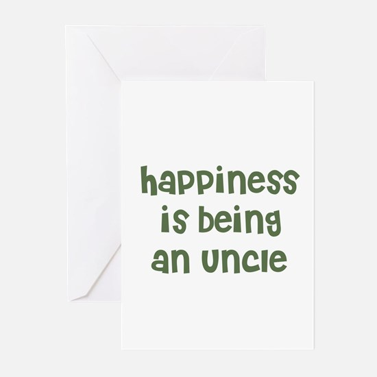 Happiness is being an Uncle Greeting Cards (Packag