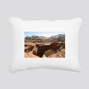 capitol reef Rectangular Canvas Pillow
