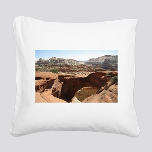 capitol reef Square Canvas Pillow