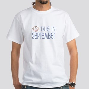 Due in September White T-Shirt