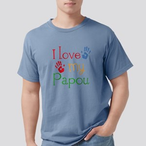 I Love My Papou Mens Comfort Colors Shirt