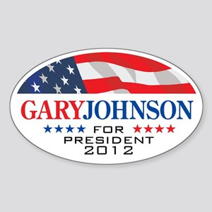 Gary Johnson Oval Sticker 2 Sticker (Oval)
