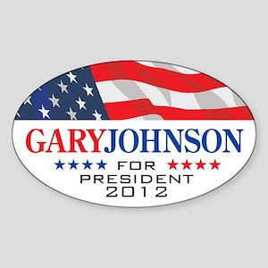 Gary Johnson Oval Sticker 1 Sticker (Oval)