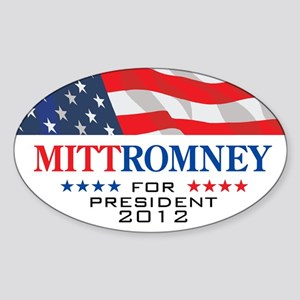 Mitt Romney Oval Sticker 1 Sticker (Oval)