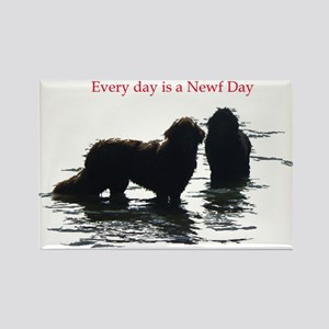 Every day is a Newf Day Rectangle Magnet