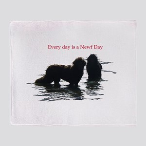 Every day is a Newf Day Throw Blanket