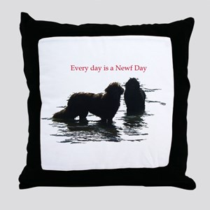 Every day is a Newf Day Throw Pillow