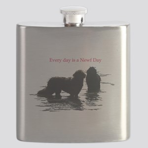 Every day is a Newf Day Flask