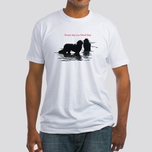 Every day is a Newf Day Fitted T-Shirt