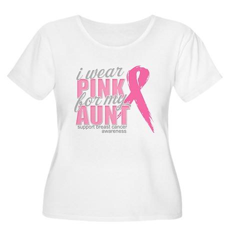 I Wear Pink for my Aunt Women's Plus Size Scoop Ne