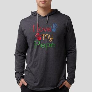 I Love my Pepe Grandpa Mens Hooded Shirt