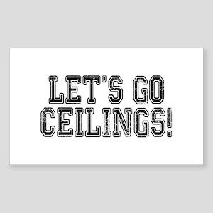 Ceiling Fan Costume Sticker (Rectangle)