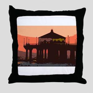 Manhattan Beach Throw Pillow