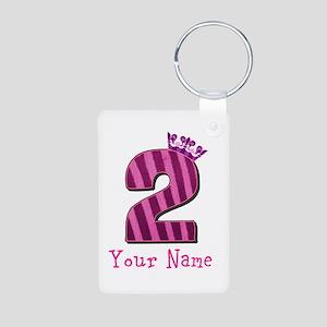 Custom 2nd Birthday Aluminum Photo Keychain