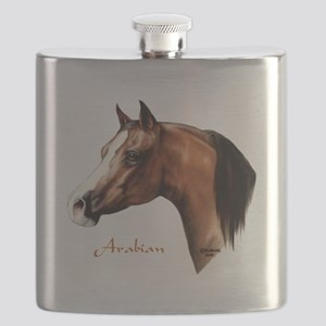Bay Arabian Horse Flask