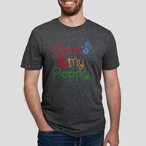 I Love My Poppy Mens Tri-blend T-Shirt