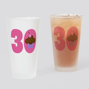 30th Birthday Cupcake Drinking Glass
