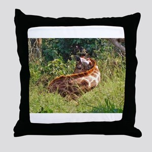 rothschild giraffe in grass kenya collection Throw