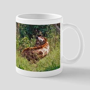 rothschild giraffe in grass kenya collection Mug