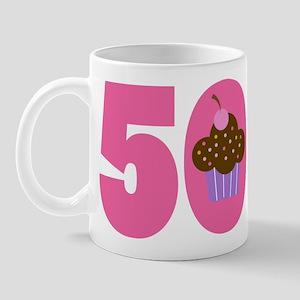 50th Birthday Cupcake Mug