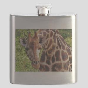 rothschild giraffe looking kenya collection Flask
