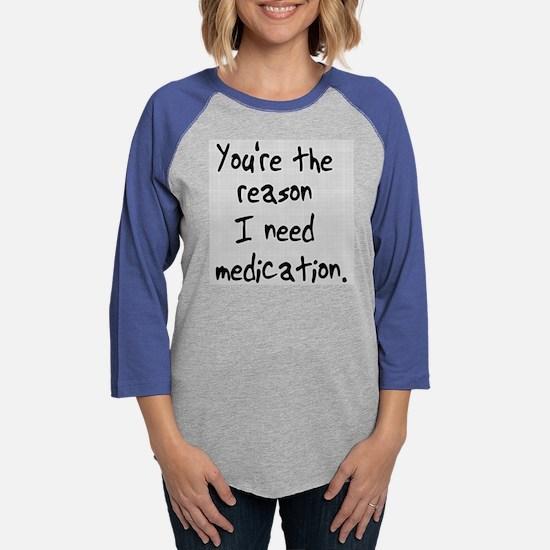need-meds-wh.png Womens Baseball Tee