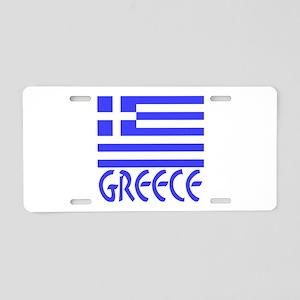Greece Flag Name Aluminum License Plate