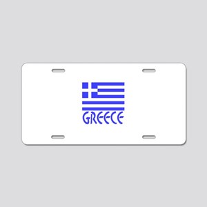 Greece Flag Name Smaller Image Aluminum License Pl