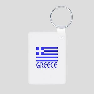 Greece Flag Name Smaller Image Aluminum Photo Keyc