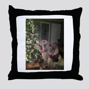 Labrador Holiday Throw Pillow