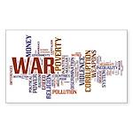 wordle Sticker (Rectangle)