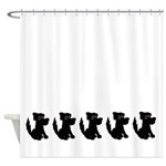 Black Dogs Shower Curtain