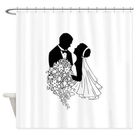 Newlyweds Shower Curtain
