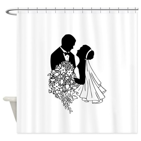 Newlyweds Shower Curtain