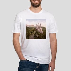 Vintage Neuschwanstein Castle Fitted T-Shirt
