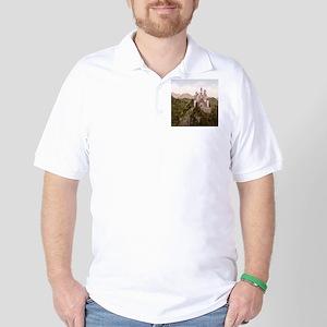 Vintage Neuschwanstein Castle Golf Shirt