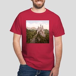 Vintage Neuschwanstein Castle Dark T-Shirt