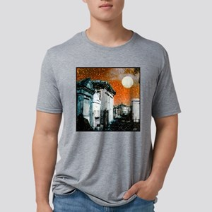 box sureal cemetary Mens Tri-blend T-Shirt