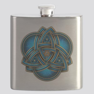 Blue Celtic Triquetra Flask