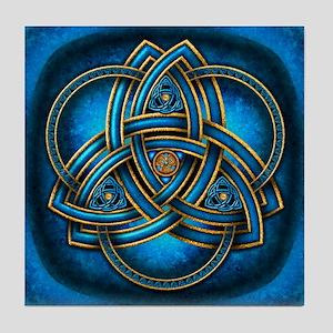 Blue Celtic Triquetra Tile Coaster
