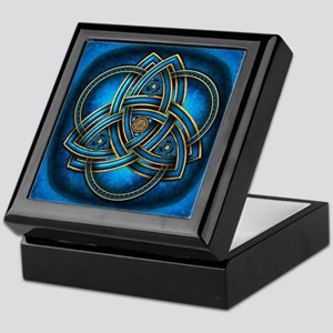 Blue Celtic Triquetra Keepsake Box