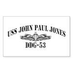 USS JOHN PAUL JONES Sticker (Rectangle 50 pk)